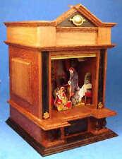 Miniature theatre Christmas scene - 1/12 scale dollhouse miniature