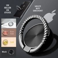 Mobile Phone Ring Holder Finger Grip 360° Rotate Magnetic Stand Mount UK Rope