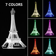3D Eiffel Tower illusion Visual Night Light LED Desk...