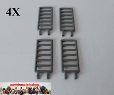 4X Lego® 6020 Castle Leiter Gitter Zaun Ladder 7X3 mit Clip altes Dunkelgrau