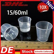 10-Tlg 15ML/30ML Kunststoff Messbecher Meßkanne Meßbecher Set Für Labor Küche DE