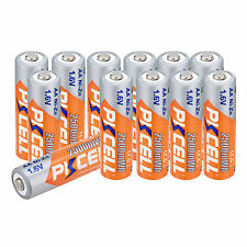 12pcs 1.6V 2500mWh AA Ni-Zn Rechargeable Batteries