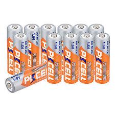 12 pcs 1.6V AA 2500mah Ni-Zn Rechargeable Batteries
