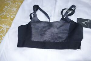 PURITY ACTIVE SPORTS BRA SIZE SMALL NEW WITH TAGS BLACK/MAUVE