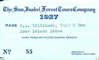 PASS-T 1927 SAN ISABEL FOREST TOURS COMPANY Gilliland   ROCK ISLAND RR