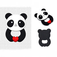 Baby Teething Toys Infants Teether Toy Cute Panda Shape Soft Silicone DB
