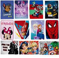 Official Kids Character Novelty Super Soft Fleece Blanket Throw for Boys & Girls