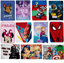 Official Kids Character Novelty Super Soft Fleece Blanket Throw for Boys & Girls