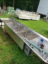 Stainless Steel Triple Compartment Dishwashing Sink