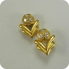 21 carat Gold Cubic Zirconia Stud Earrings