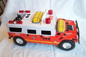 Tonka Rescue Hummer Blinking Lights Sound Siren Winch Reverse Forward See Pics