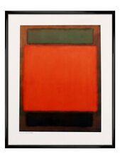 Mark Rothko Poster Orange and Brown Gloss Black Framed 40x50cm