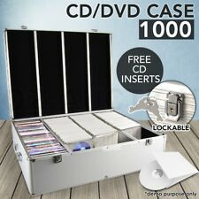 Aluminium CD DVD Bluray Storage Case Box Lock 1000 Discs SL Holds Folder