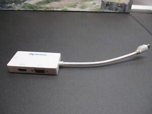 Cable Matters Mini DisplayPort HDMI/DVI/VGA Male to Female 3 in 1 Adapter White