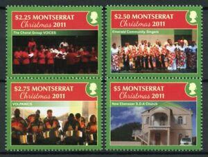 Montserrat Christmas Stamps 2011 MNH Churches Singers Volpanics Seasonal 4v Set