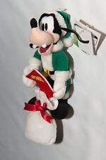 Disney Goofy Christmas Plush Doll Sega 2001 with Toy Sack & Christmas Card Green