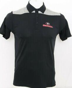 NEW Georgia Bulldogs Black Columbia Omni-Wick Utility Polo Shirt Men's S