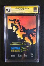 Batman: The Dark Knight Returns #4 CGC 9.8 2x Signed Frank Miller Klaus Janson