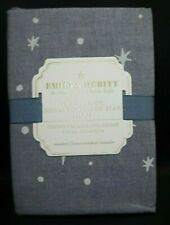 Pottery Barn Kids Emily & Meritt The Denium Scattered Star Sham Standard Blue #7