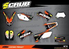 KTM graphics EXC decals kit 125 250 300 450 525 2005 2006 2007 stickers '05-'07