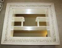 VTG Mid Century Modern shadow box mirror wall decor Hollywood Regency CURIO