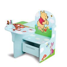 DELTA CHILDREN DISNEY WINNIE THE POOH CHAIR DESK WITH STORAGE KIDS PLAYROOM DESK