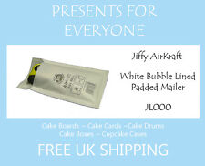 100 x Jiffy Airkraft White Bubble Lined Postal Padded Mailing Bags JL000 A/000