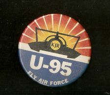 "U-95 KJR Fly Air Force 3 1/2"" Unlimited Hydroplane Button"