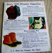 rare vintage  L. L. Bean catalog Christmas 1976 camping gear clothes accessories