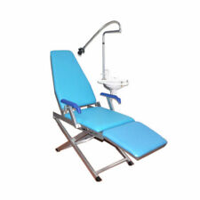 Dental LED Light Flushing Water Supply System Folding Chair Portable NEW
