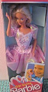 Mattel ~ Barbie Doll ~ 1988 ~ Gift Giving ~ #1205 NIB