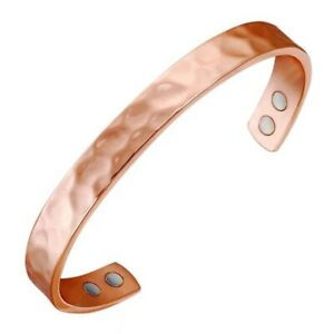 COPPER BRACELET ARTHRITIS / RHEUMATISM BANGLE BIO PAIN RELIEF MAGNETIC HAMMERED