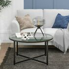 Coffee Table with Metal Base, Glass