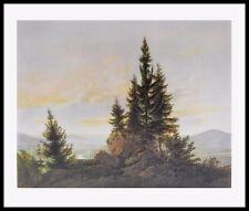Caspar David Friedrich vistas al valle del Elba póster son impresiones artísticas en el marco 70x90cm