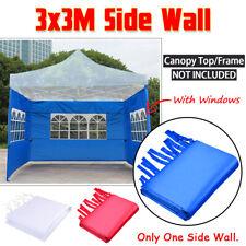3x3M Gazebo Marquee Party Tent Side Wall Window Waterproof Garden Outdoor
