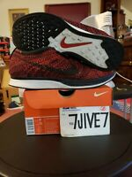 Nike Men's Flyknit Racer University Red Fire Rooster 526628-608 Size 9.5
