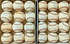 2 dozen used baseballs (all leather baseballs)
