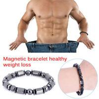 Magnétique Bracelet Perles Hématite Pierre Thérapie Soins de Santé Bracel`FRMX