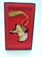 Lenox Angel Ornament Porcelain Christmas Tree Holiday Decor Harp Blonde Hair