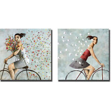 Petals and Follow Me by Didier Lourenco 2-pc Gallery Wrapped Canvas Giclee Set