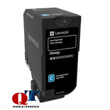 Lexmark 74C0H20 CS725 Cyan High Yield Laser Cartridge Toner Cart 12000 12k Pages