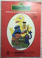 Sesame Street Counted Cross Stitch Pattern 8 Designs Paragon Jim Henson OOP 1982