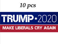 10PCS Donald Trump President 2020 Bumper Sticker Keep Make America Great