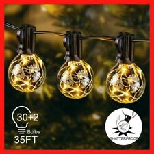 Outdoor LED String Light Garden Lamp Solar Powered IP65 Multicolor Warm White