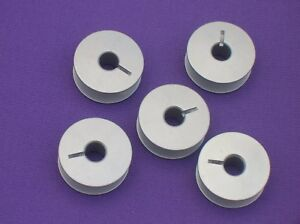 5 ALUMINIUM  SEWING MACHINE BOBBINS FITS PFAFF