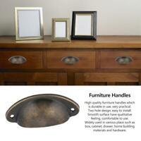 10PCS Metal Drawer Cabinet Furniture Knob Antique Shell Pull Handle Handware