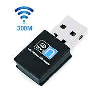 Sn _ Ee _ ABS Inalámbrico Portátil USB 300Mbps Wifi Receptor Adaptador PC Netwo