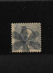 US Scott #115 used 6c Ultra Washington 1869 Pictorial issue fancy cancel f/vf