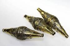 Perlen, Lange Metallperle, Kostüm-Zubehör, Set von 3 Perlen
