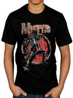 Official Misfits Skeleton T-Shirt Skull Coffin Legacy Brutality Rock Fiend Club